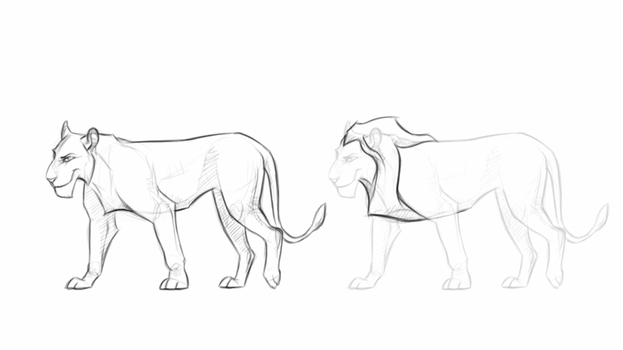 LION lineart + PSD by NorthernRed