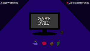 Kaverini: Nuuk Adventures Game Over Screen by worldwhilecomics