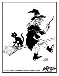 Inktober 2018 - Witches and Wizards - Angular by FavouriteCrayon