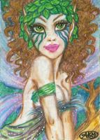 Tieve : Woodland Fairy ACEO by alyssakay