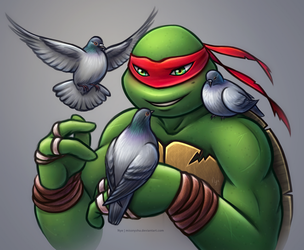 Raphael the Pigeon Master by MissNysha