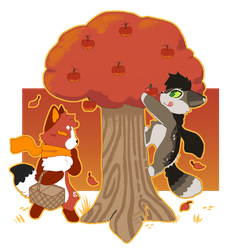 .:CO:. Picking Apples by SpunkyRacoon