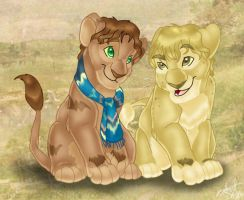 Merry and Pippin lions by tigrin