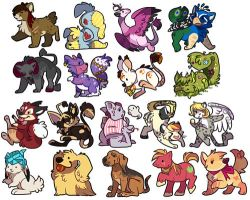 Adorabiddle icons by Keshi-Commish