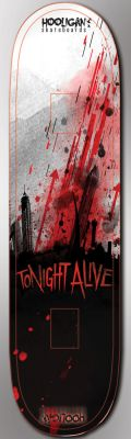 Tonight alive, skate deck contest entry by skyracer46