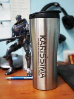 Mass Effect tumbler by Katlinegrey