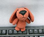 Cutest crochet puppy bag charm looks for home by YANKA-arts-n-crafts