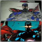 superman red eyes angry by gabrielsart89