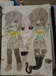 New life Chara and Genocide  by UltamiteSorceress