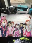 My favorite Pink and White Rangers by shojoboy1024