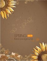 Retro-Sunflower-vector-background001 by vectorbackgrounds