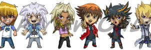 Yu-Gi-Oh Chibis Pt. 2 by Red-Flare