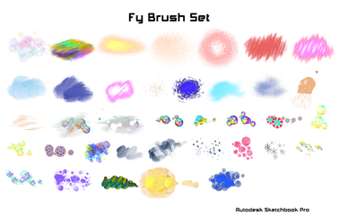 Set de Brushes Fy Autodesk Sketchbook Pro (PC) by KarenStraight