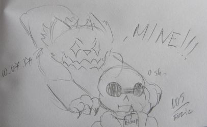 [Request] Sans and Glitch by Foziz105