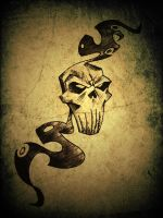 smoking skull by avikdey