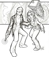 Ninth Doctor and Rose by AdamWithers