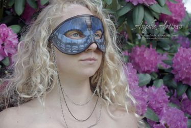Blue Butterfly Necklace Mask feat. Lee Hakima by Angelic-Artisan