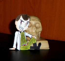Mengele with a skull by R7artist