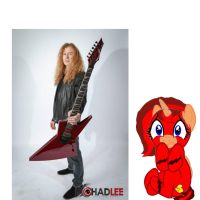 Cara + Dave Mustaine= NOPE by Enderpony626