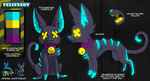 Felisneon Reference Sheet by AlkseeyaKC