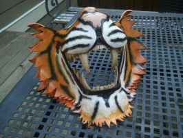 Leather Tiger half mask by Skinz-N-Hydez