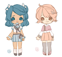 Pastel School Girls Adoptables - OPEN by MayonnaiseBottle