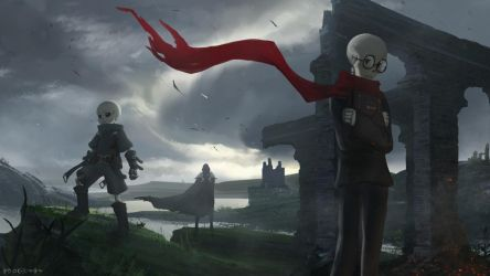 nameless skeletons by Virzoeve