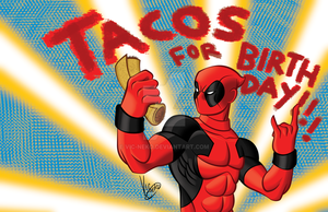 Deadpool and tacos by Vic-Neko