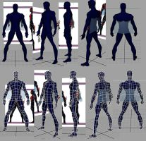 Spiderman low poly mesh by Lenore5k