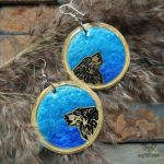 Tidal Wolves handcrafted earrings by Dark-Lioncourt