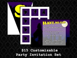 Party Invite Sets - Super Girls by PointyHat