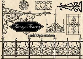 Fancy Fences Brushes by sancha310sp