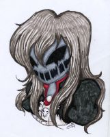 TRADTIONAL: Nightmare Ally Headshot (Redone) 2014 by InvaderIka