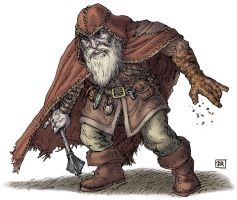 Player Character 03 - Dwarf Wizard by Domigorgon