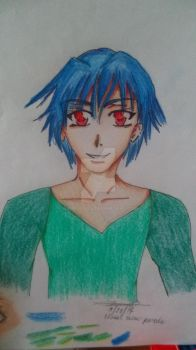 Blue-Haired Guy by Gumi-loves