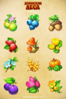 Forestkeepers icons pack 1 by Beffana