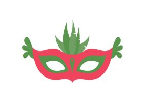 Party Mask Free Flat Vector by superawesomevectors