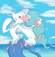 Primarina with some random bubbles by GojulasArt