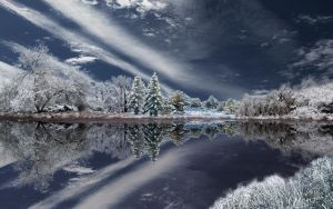 Winter Pond 3 by MichaelAtman