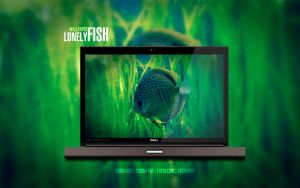 Lonely Fish Wallpaper by Martz90