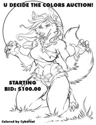 U Decide Werewolf Full Color Auction by lady-cybercat