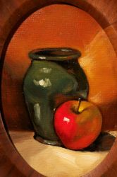 Apple and Jar by DeLumine