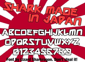Font - Shark Made In Japan by TSM-Draws