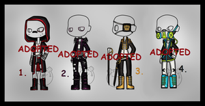 Fighter's Outfit Adopts (CLOSED) by Adopt-From-Frog