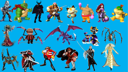 Smash Bros Main Villains that Haven't Been Added by russellthedog
