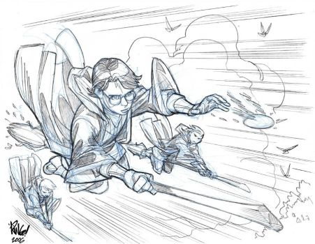 Another HARRY POTTER sketch by Wieringo