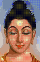 Buddha (mixed of solid colors and rings hatching) by trandoductin