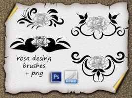 Rosa Desing by roula33