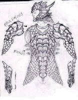 Dragon Armor 3 Sketch by Azmal