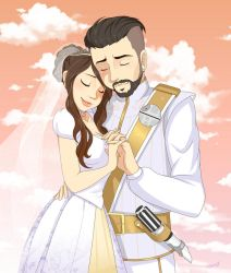 Shoe0nhead and Armoured Skeptic wedding by SpookyPandaGirl